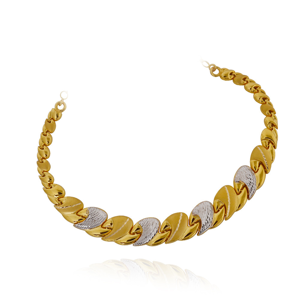 Fancy SIngle Link Gold Necklace