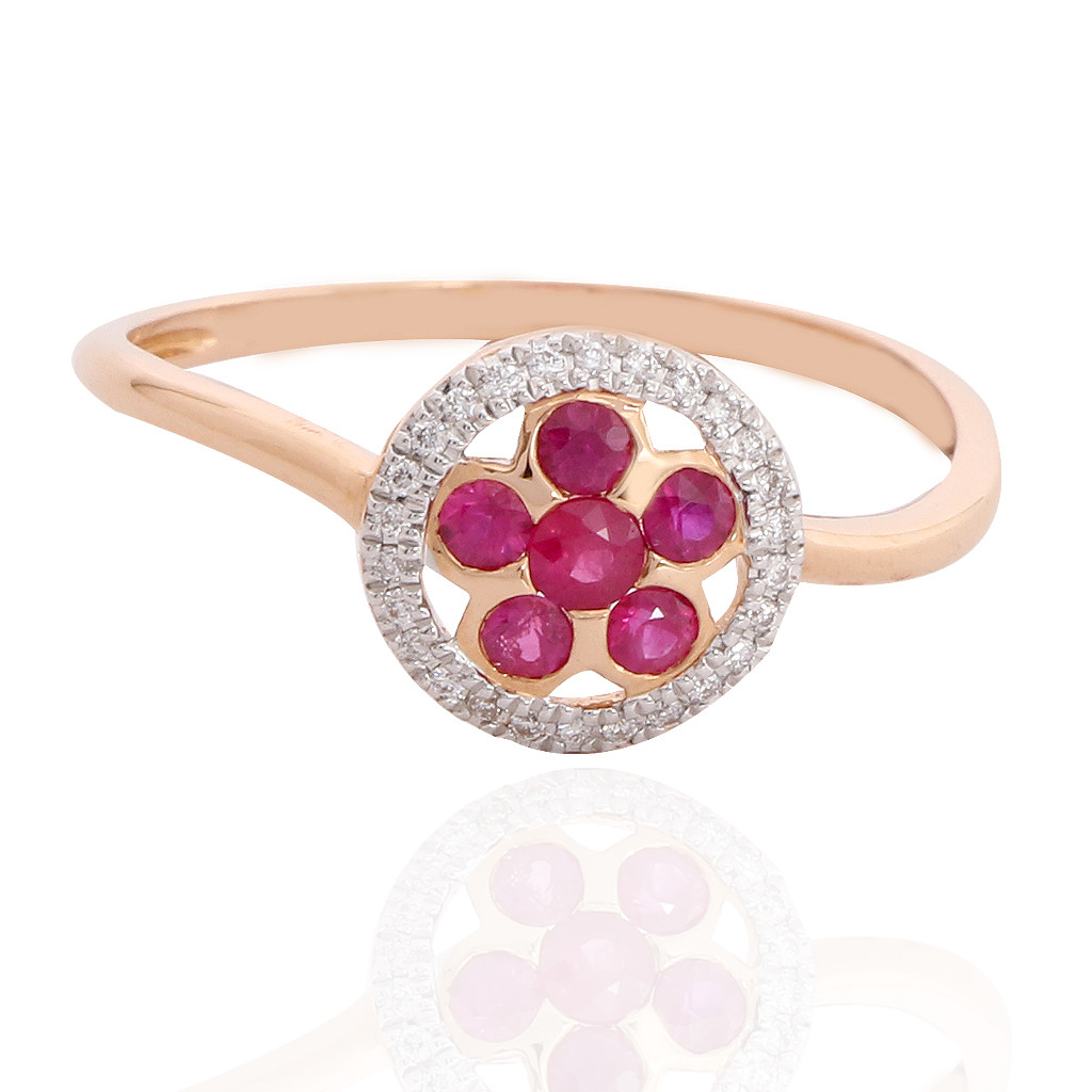 The Floral Disc Diamond Ring