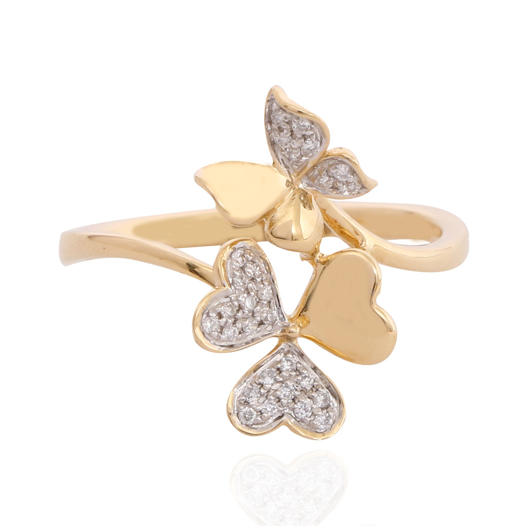The Butterfly & Floral Diamond Ring