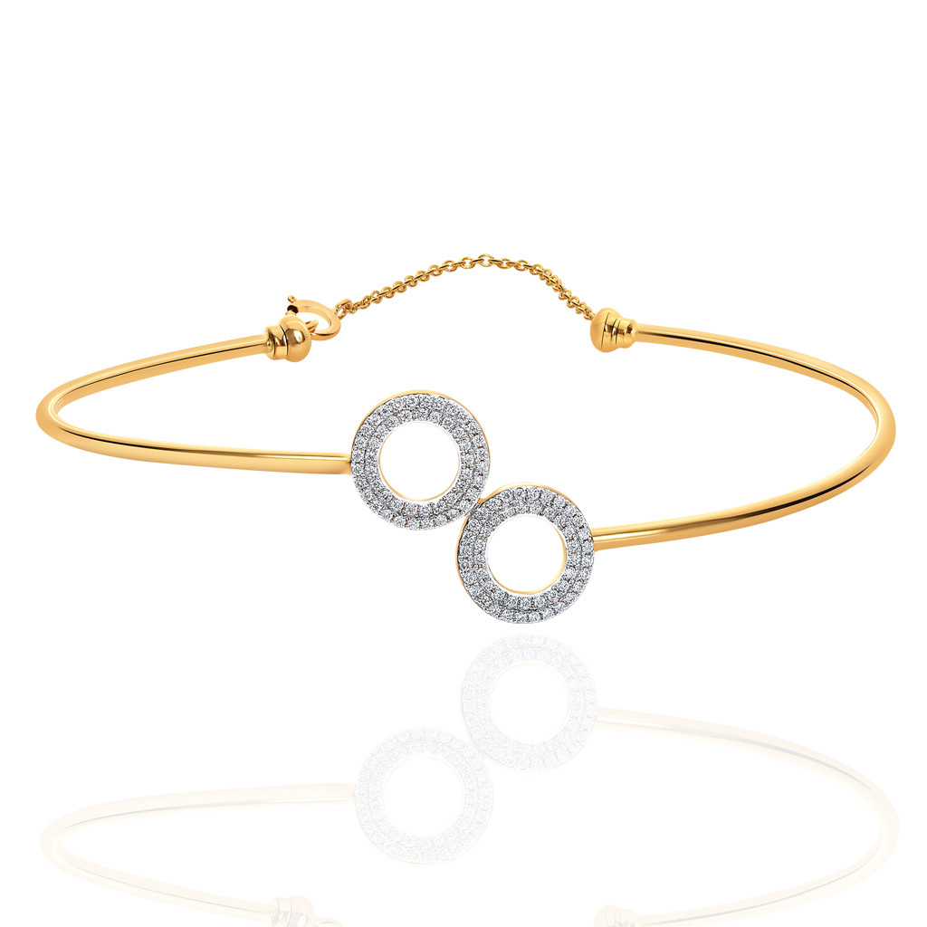 Double Disc Diamond Bracelet