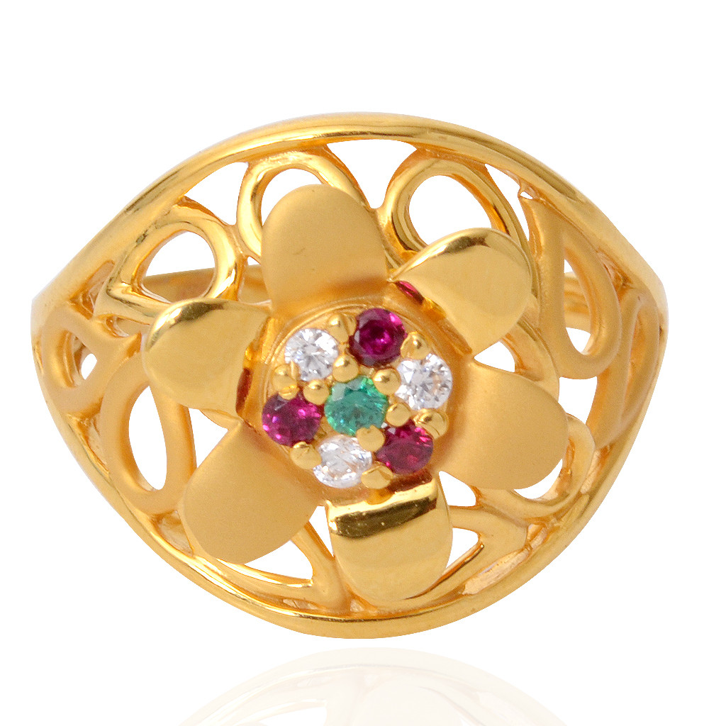 Rich & Rare Collection Floral Ring