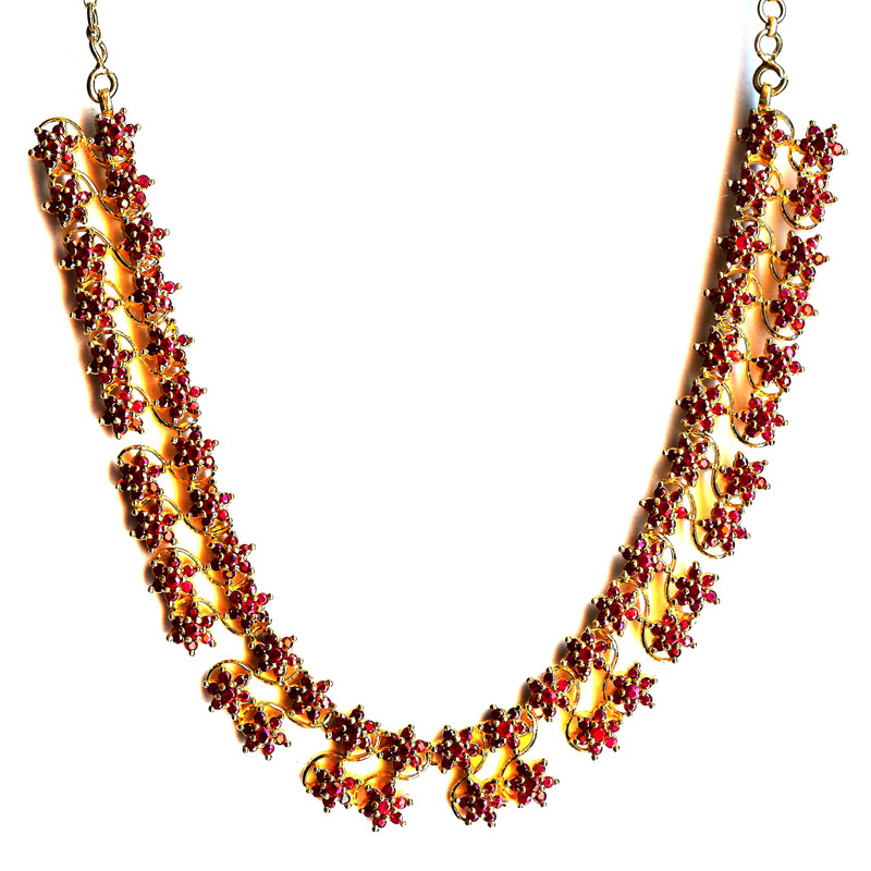 Sizzling Red Rubies Designer Necklace