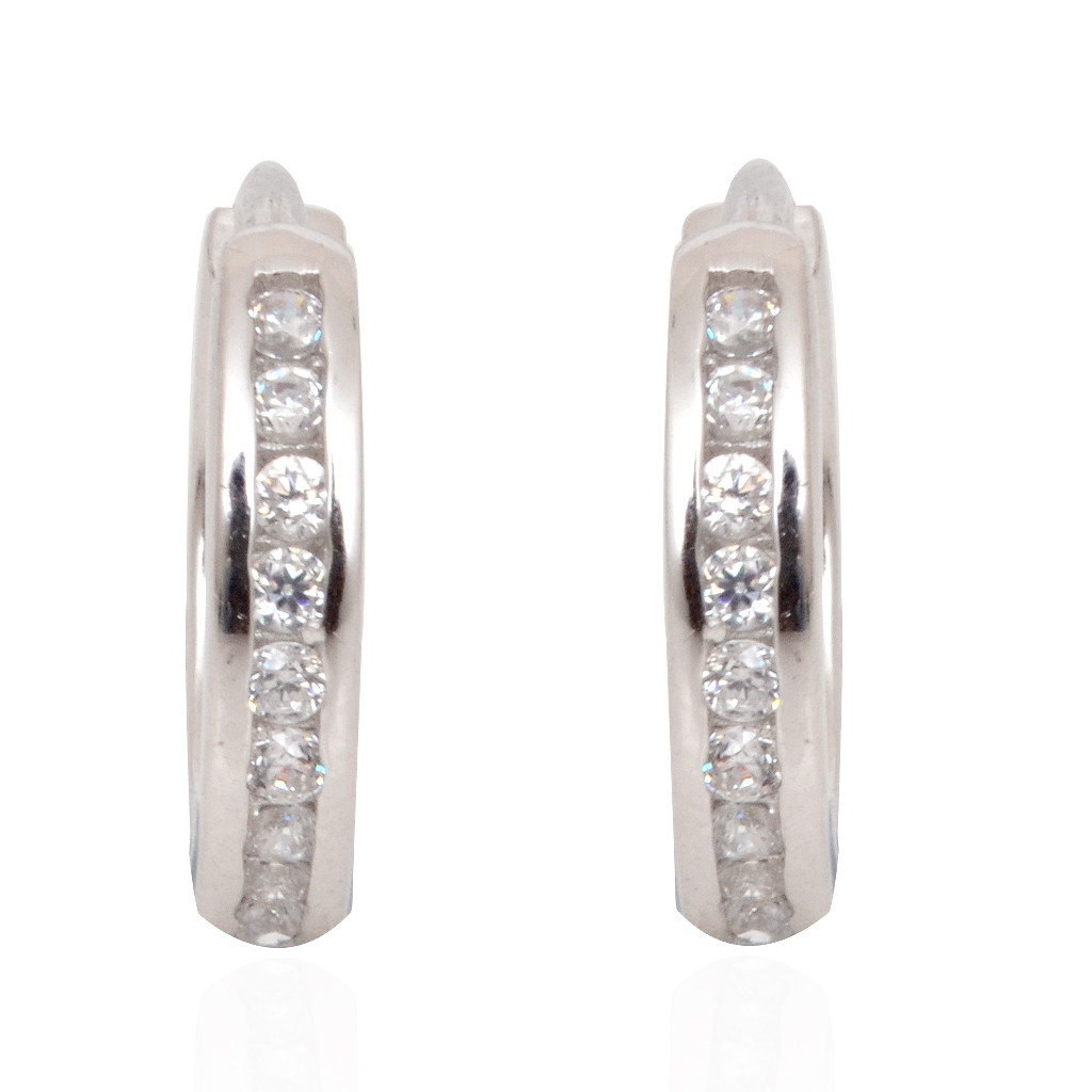 Sterling Centered Layer Silver Earrings