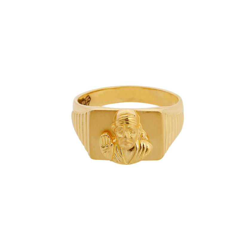 Shiridi Saibaba 22KT Gold Ring