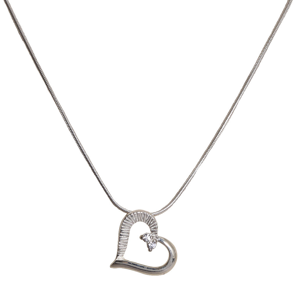 Duo Style Silver Heart Pendant Set