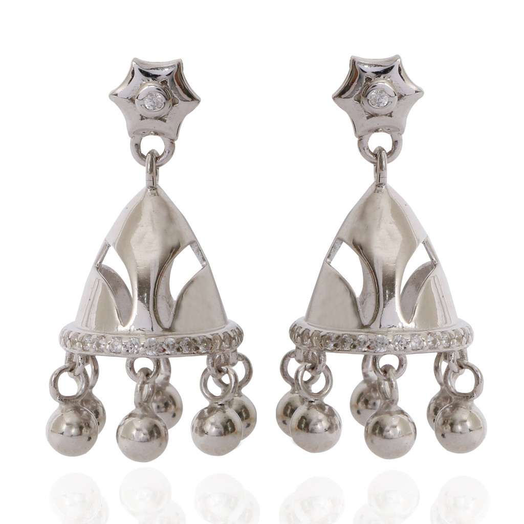 The Emy Silver Earrings