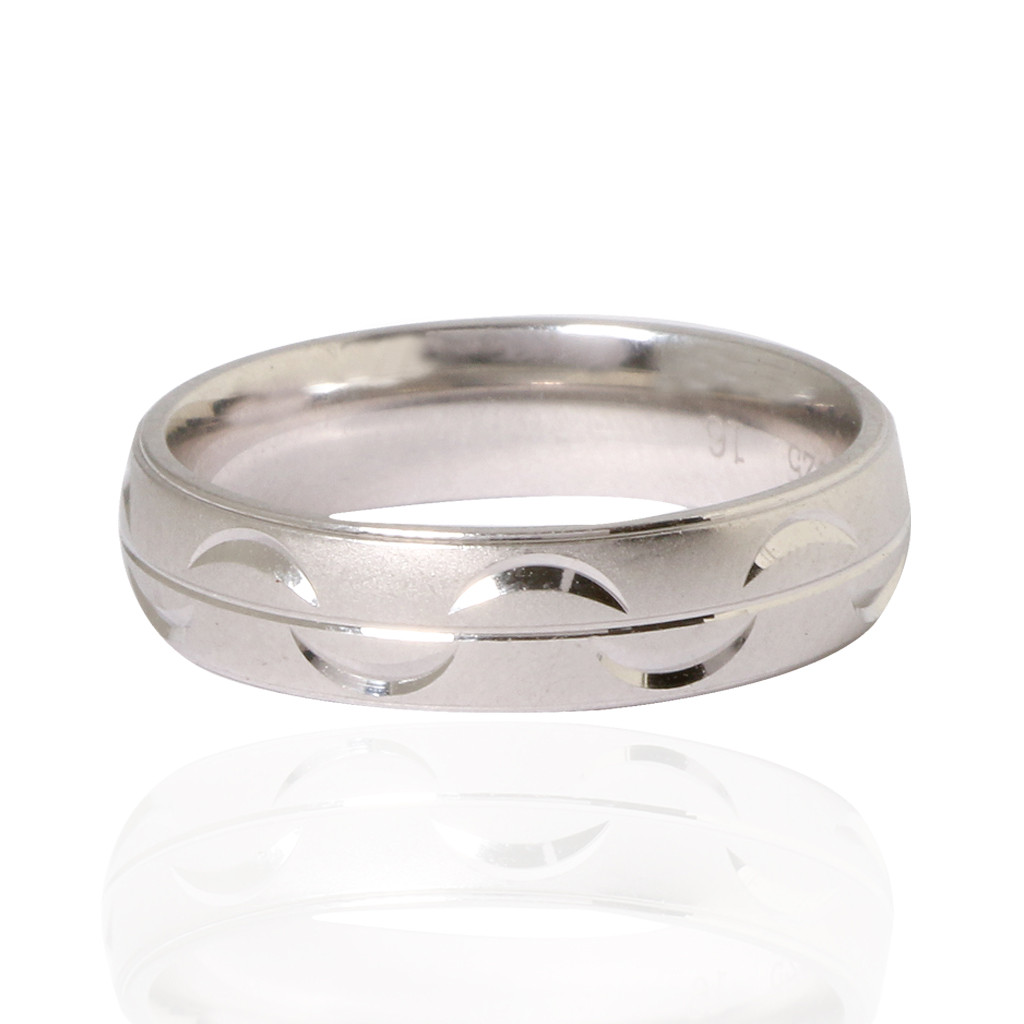 Silver Wave Band Ring