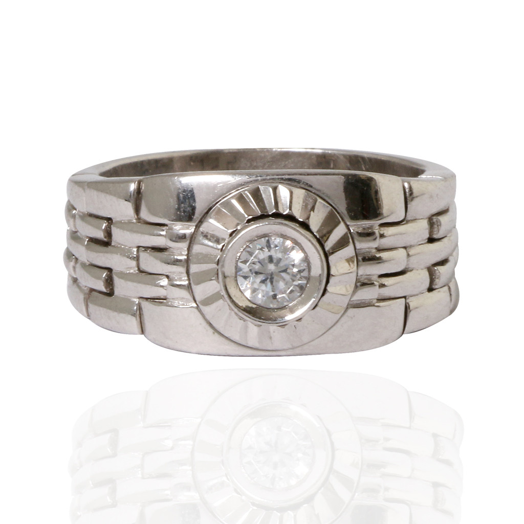 Men's Band Silver Ring