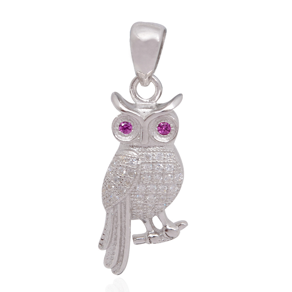 The Owl Silver Pendant