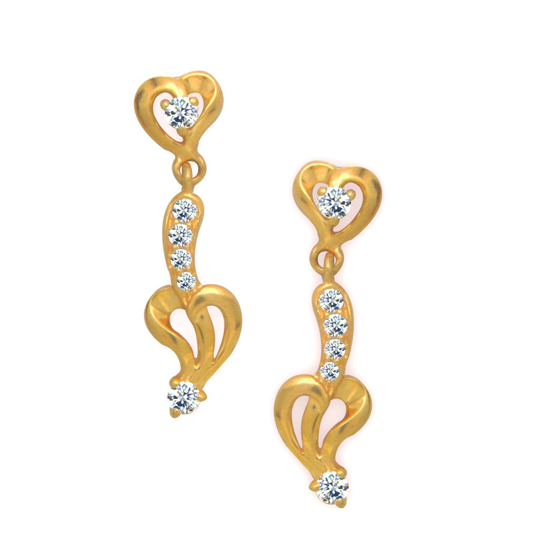Elegant Heart Gold Fancy Drops