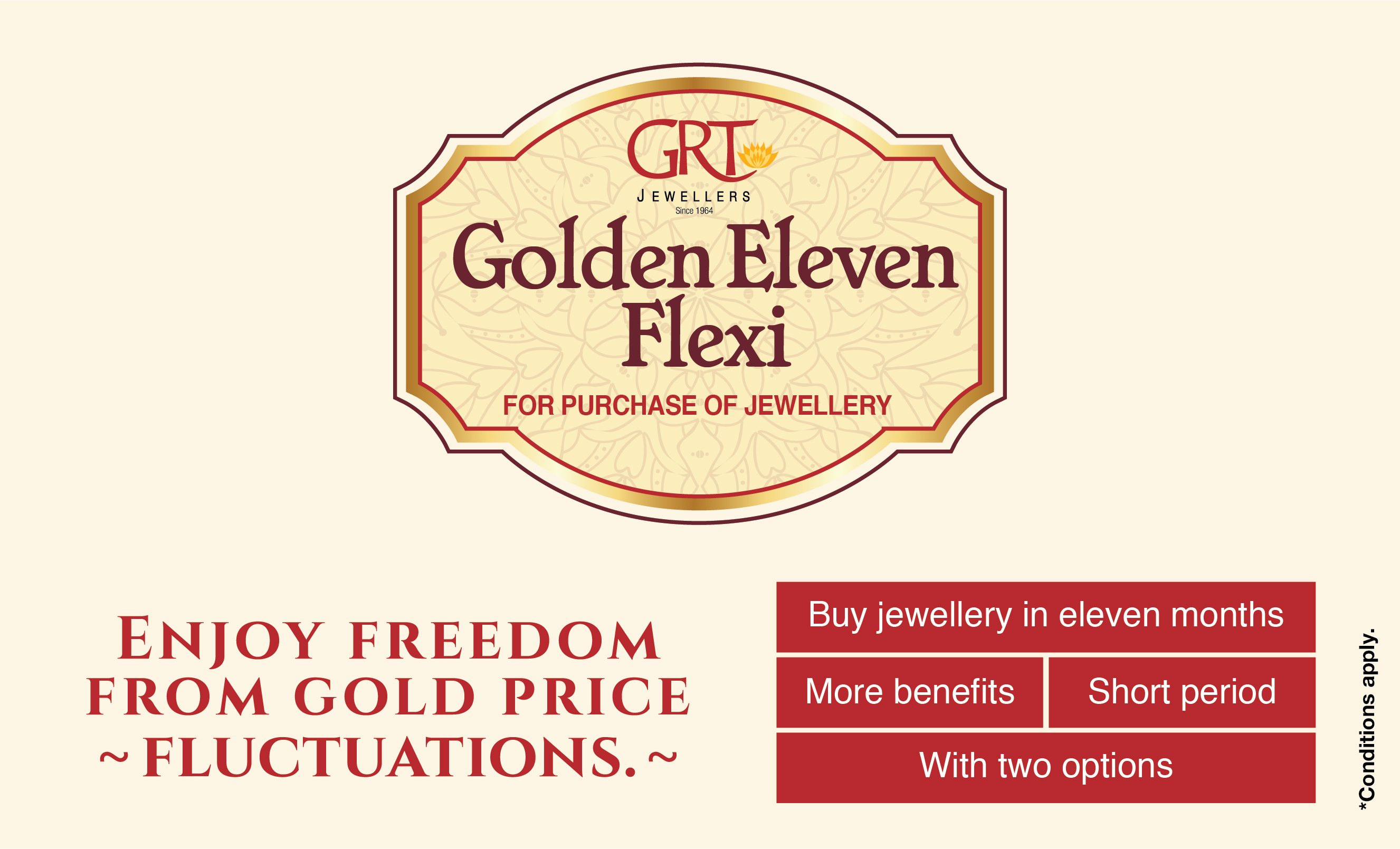 GRT Jewellers Golden Eleven Flexi Plan