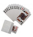 Silver Finish Playing Cards