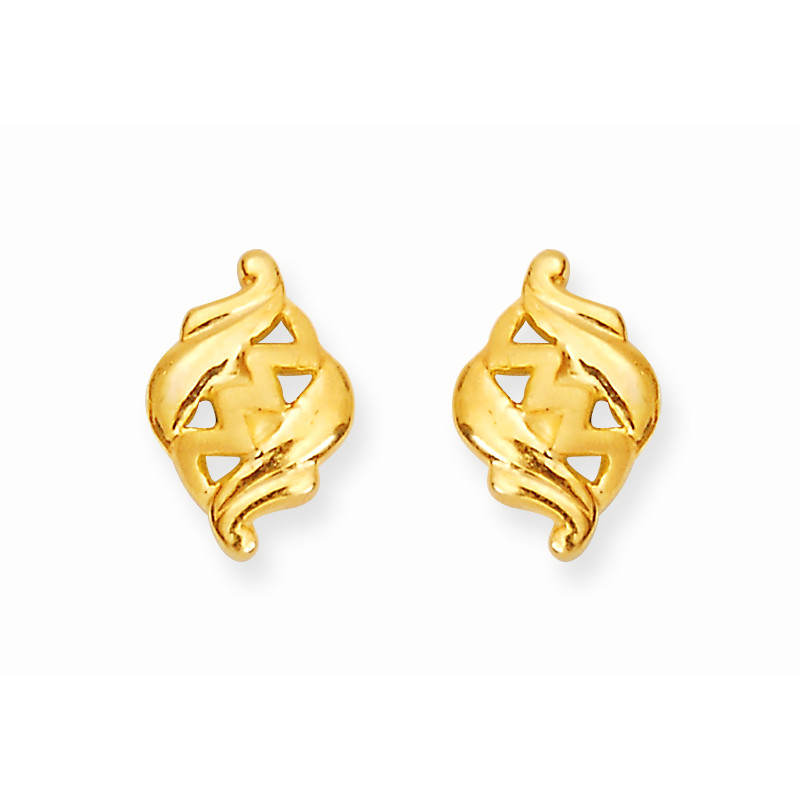 Gold ring earrings design beautify themselves with earrings